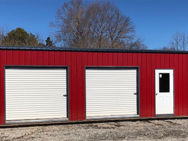 Portable Garage_0006_CLB Sidemount garage red